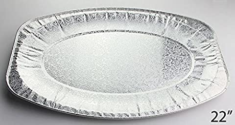 Strong Oval Aluminium Trays Disposable Catering Serving Foil Platters BBQ Party (22