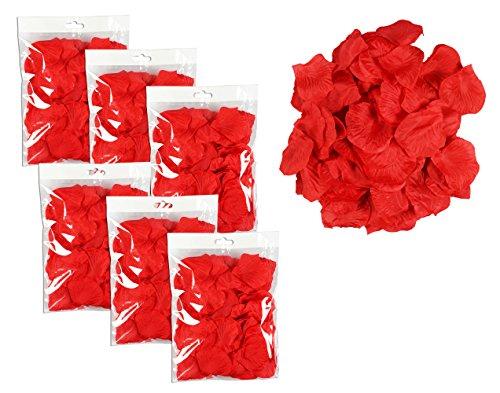 floristikvergleich.de COM-FOUR® 450 Rosenblätter Rosen Rosenblütenblätter Rot (ca. 450 Stück)