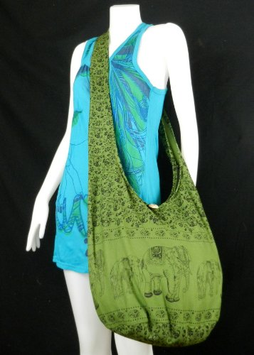 BenThai Products, Borsa a tracolla donna Pink NA4 Verde (Green EEL4)