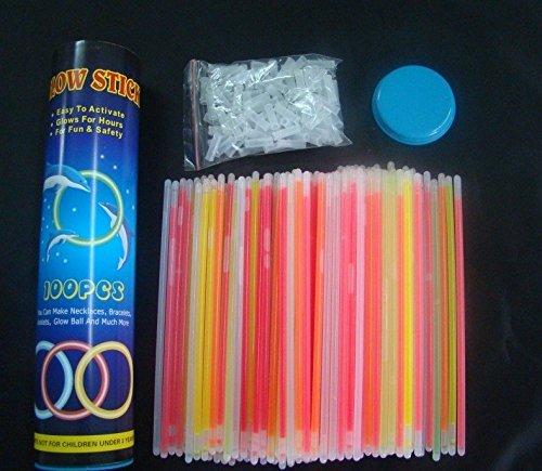 Targarian 100 Knicklichter 7-farbiges Komplett-Set mit 202 Teilen, Fabrikfrische Qualitätsware - seit 12 Jahren in Markenqualität [Energieklasse A] by