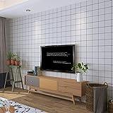HQYXGS Une Grille 3D, Papier Peint Auto-adhésif étanche Moderne Minimaliste Chambre...