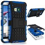 HTC One M9 Hülle Silikon Hard-Case Blau [OneFlow Outdoor