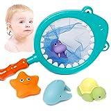 ZREAL Kinder Kinder Schwimmen Spielzeug Set Pick Up Fisch Spiele Farbwechsel Wasserbad Fischernetzbeutel