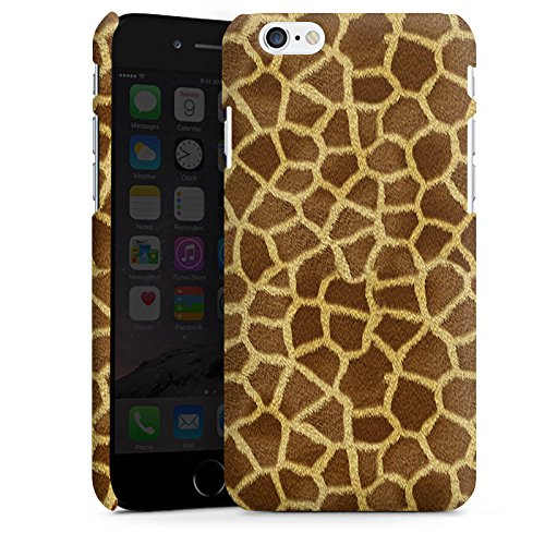 Apple iPhone X Silikon Hülle Case Schutzhülle Giraffe Look Fell Tiere Premium Case matt
