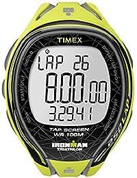 Timex T5K589SU - Reloj para hombres, correa de resina color amarillo