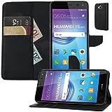Buch Klapp Tasche Schutz Hülle Wallet Flip Case Etui für Huawei Y6 2017 MYA-L41