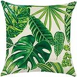 Verde Tropical planta funda de cojín resto almohada cubierta