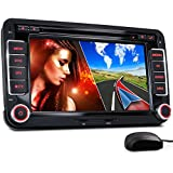 """XOMAX XM-2DN705 Autoradio / Moniceiver / Naviceiver avec navigation GPS + GPS auto intégré avec cartographie Europe (49 pays) + Fonction sans fil Bluetooth avec importation de l'annuaire + Écran tactile de 7"""" / 18cm, 16:9 HD (800 x 480 px) + Lecteur DVD et CD+ Port USB (128 GB) + Fente pour cartes Micro SD (128 GB) + MPEG4, MP3, WMA, JPEG etc. + Connexions pour subwoofer, caméra recul et commandes au volant + Dimensions standard double DIN (2DIN) + Télécommande, Antenne GPS inclus"""