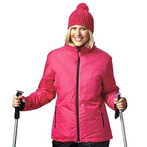Damen Skijacke Snowboardjacke Jacke wind und wasserdicht Ski Rosa Öko-Tex (M (48/50))