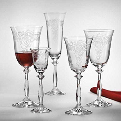 Bohemia Crystal Weinglas, Weinkelch 250 ml Romance (Angela) 6-er Set mit Gravur (250 ml)