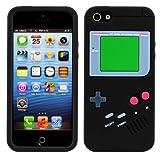CUSTODIA IN SILICONE Fantasia gameboy per Apple iPhone 5 / 5S in Nero - Design stiloso e protezione...