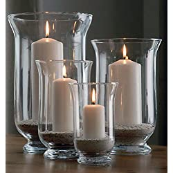 Windlichter aus Glas im 4er Set