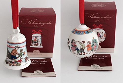 Hutschenreuther Porzellan Weihnachts Glocke 2015 und Weihnachts Kugel 2015 in den Originalverpackungen (2er Set)