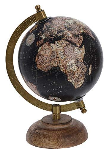 made2trade Globus im Retro Design - Schwarz - 12CM