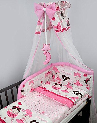 10Stück Kinderzimmer Kinderbett Bettwäsche/Bettbezug & Füllung Set/Sicherheit Bumper/Betthimmel und Stange