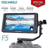 Feelworld F5 5 Zoll DSLR Kamera Field Monitor Small Full HD 1920x1080 IPS Video Peaking Focus Assist mit 4K HDMI 8.4V DC Input Output Gehören Tilt Arm