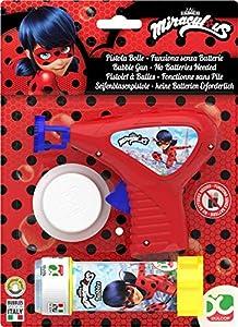 Dulcop 500174518 - Pistola de Burbujas de jabón Modelo Miraculous 60 ml