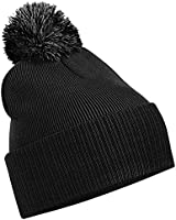 Unisex Beechfield Snowstar Duo Winter Knit Beanie Bobble Hat