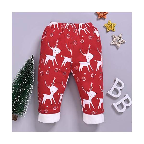 Shenye - Pantalones de Navidad para bebé, diseño de Ciervo 2