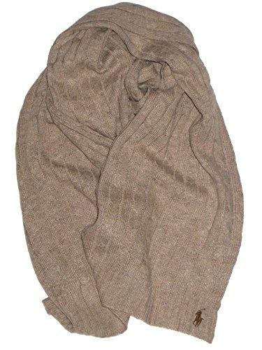 Ralph Lauren Oblong Scarf Schal Zopfmuster Wollmischung (Lauren Ralph Camel)