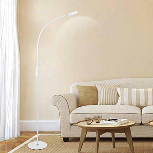 Preisvergleich Produktbild Tonffi 9W 500LM Schwanenhals LED Stehlampe mit Fernbedienung dimmbare Touch- Schalten 3000-6000K 360 Grad drehen geeigneit für Wohnzimmer und Lesenzimmer usw (elegant weiß)