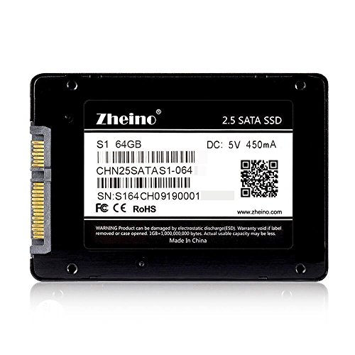 Zheino S1 2,5 Zoll SATA III 64GB 2D MLC SSD Solid State Drive (7 mm) für Desktop Laptop