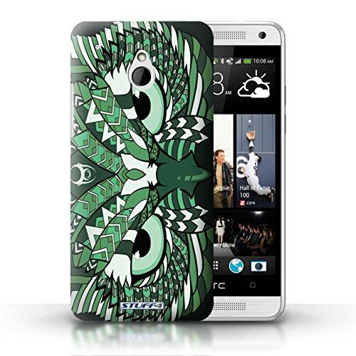 Kobalt® Imprimé Etui / Coque pour HTC One/1 Mini / Loup-Sépia conception / Série Motif Animaux Aztec Hibou-Vert