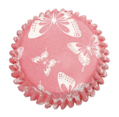 Muffinförmchen, 54 Stück, mit rosa Schmetterlingsmuster Butterfly Cupcake Pan