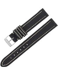 Breitling S10515–14mm en cuir véritable bande de montre Mesdames noir W Boucle.