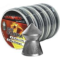 5 latas de pistola de aire pellets de Umarex 4,5 mm pellets de cabeza de Cobra señalado para rifle de aire comprimido & pistola de aire comprimido