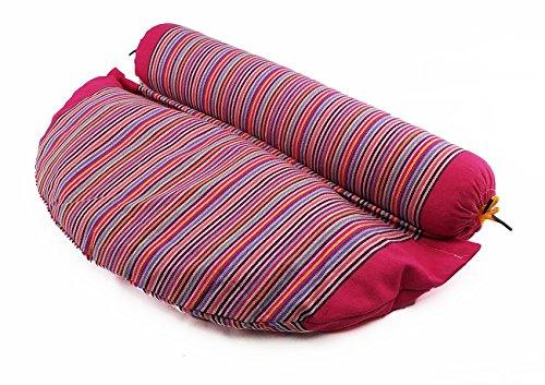 rosa Yogarolle Meditationskissen Yoga Sitzkissen Bolster Yogakissen pink