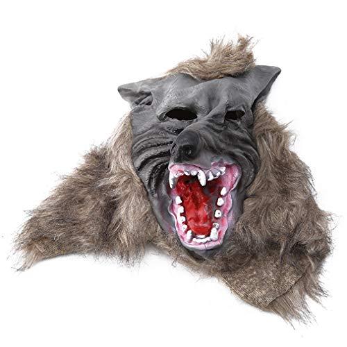 Sevenfly Wolfskopfmaske für Halloween und Cosplay Kostümparty (gelb)