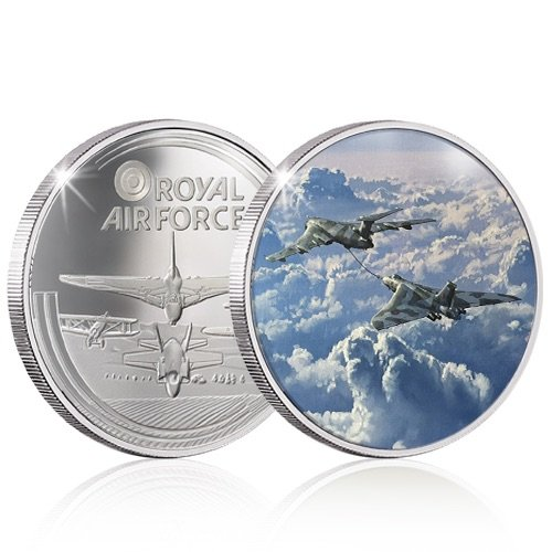 The RAF Collection Silver Coin Medal - Vulcan - The Long Journey