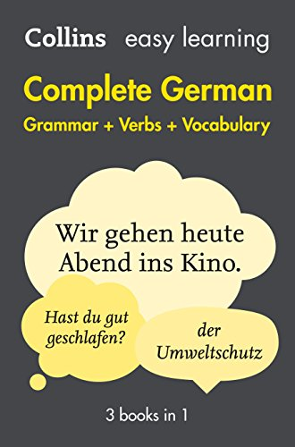 Easy Learning German Complete Grammar, Verbs and Vocabulary (3 books in 1) (Collins Easy Learning German) Test