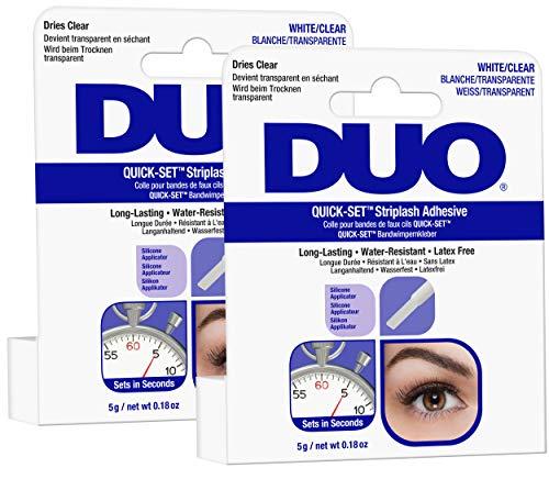 Ardell Duo Quick Set Clear / Transparent, Wimpernkleber für künstliche Wimpern, das Original für perfekte Lashes (durchsichtig), 5g (2x)