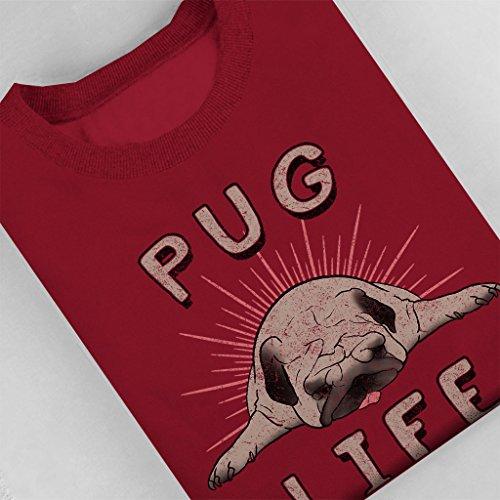 Pugs Life Women's Sweatshirt Cherry Red