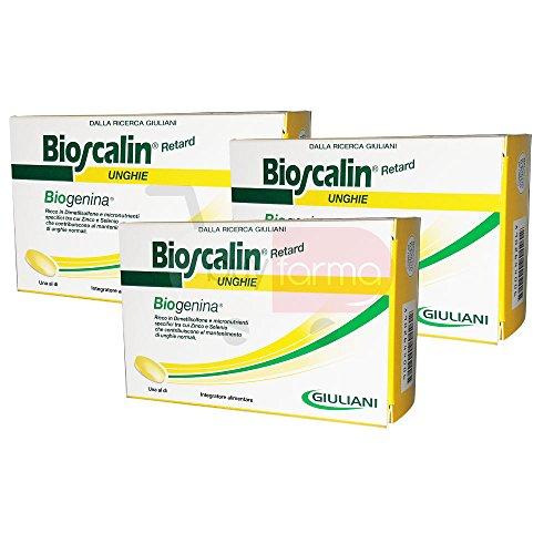 3X BIOSCALIN RETARD UNGHIE DA 30 CPR - Compresse Rinforzarti Ughie con Biogenina - 90 COMPRESSE TOTALI (3 MESI DI TRATTAMENTO)