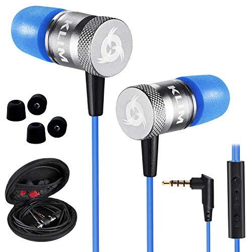 KLIM Fusion In-Ear-Kopfhörer mit Memory Foam, Blau thumbnail
