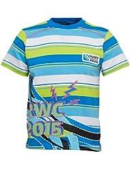 Rugby World Cup haut Bright T-shirt pour enfant garçon Junior Jersey Bleu