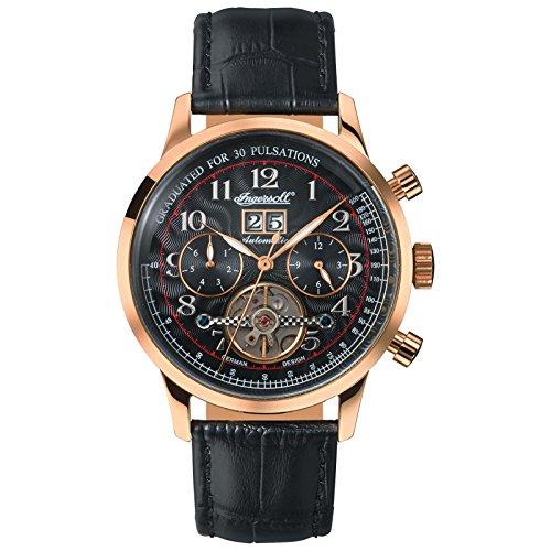 Ingersoll Herren Analog Automatik Uhr mit Leder Armband IN2002GBK