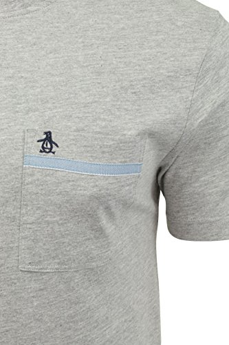 Original Penguin Tape Pocket T Shirt in Dark Sapphire Rain Heather