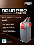 AQUA PRO EXTERNAL FILTER FISH TANK AQUARIUM WATER POWER FILTERS MEDIA FILTRATION (AquaPro 1200 External Filter)