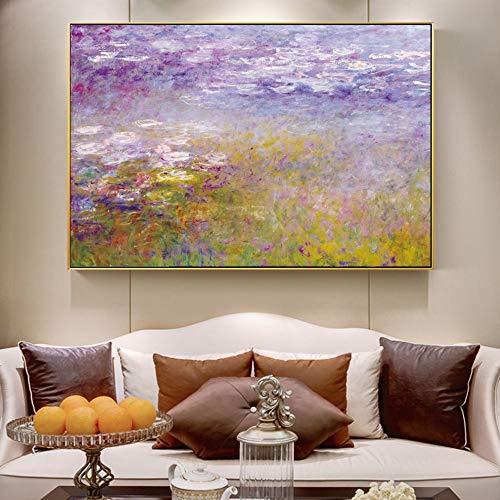 Monet Lirios agua Pinturas pared Impresionista Pintura