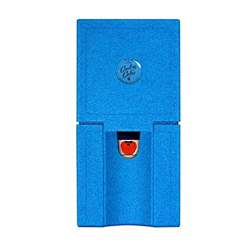 Cooling Cubes SWELL - Bierfass Kühlung, Kühlbox, Kühlmanschette für das 5 Liter Partyfass Bierkühler (blau)
