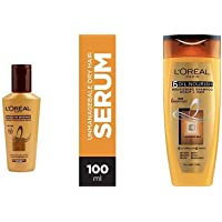 L'Oreal Paris Smooth Intense Serum, 100ml And L'Oreal Paris 6 Oil Nourish Shampoo, 175ml (With 10% Extra)