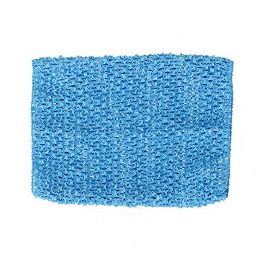 9inch Tapa Del Tubo De La Venda Del Ganchillo Cintura Elástica Para Las Niñas Falda Tutú Negro - Azul