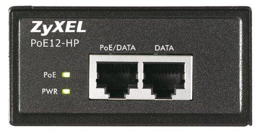 Zyxel Single Port 802.3at PoE+ Injector / Injektor (bis zu 30 Watt) über Ethernet-Kabel (10/100/1000Base-T) [POE12-HP] -