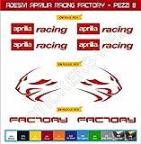 Adesivi stickers APRILIA RACING FACTORY LEONE kit 08 Pezzi -SCEGLI COLORE- moto motorbike Cod.0118 (Rosso cod. 031)
