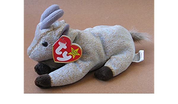 b6ffb5bae93 TY Beanie Babies Goatee the Goat Plush Toy Stuffed Animal by Unknown   Amazon.co.uk  Toys   Games
