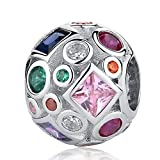 SAM Panda Colourful Life–925Sterling Silber Charms nickelfrei
